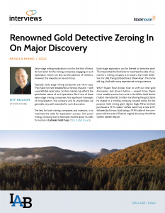 Renowned Gold Detective Zeroing In On Major Discovery